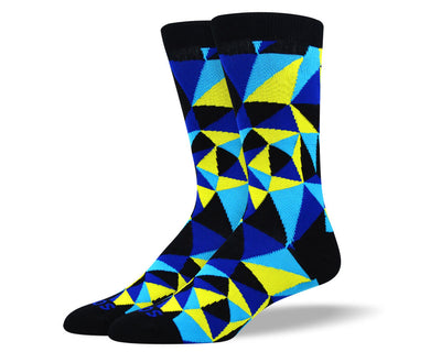 Men's Trendy Blue Mosaic Socks
