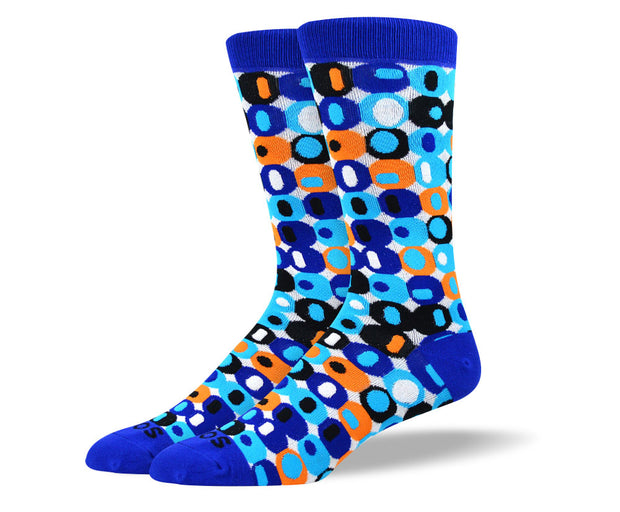 Men's Cool Blue Crazy Socks