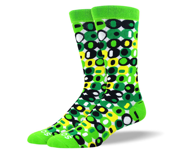 Men's Cool Green Crazy Socks