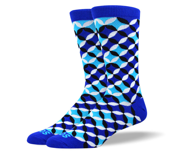 Men's Fun Blue Flower Petal Socks