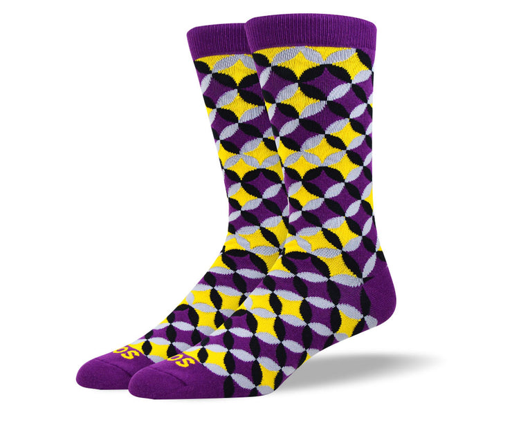 Men's Fun Purple Flower Petal Socks