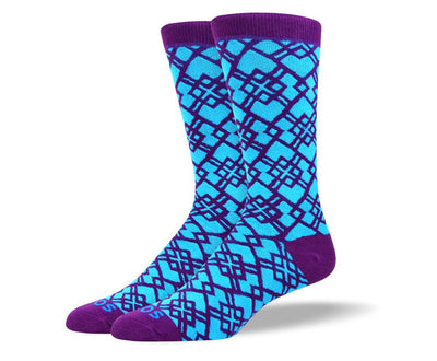 Men's Pattern Blue Socks