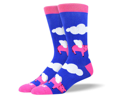 Men's Funny Flying Pig Socks