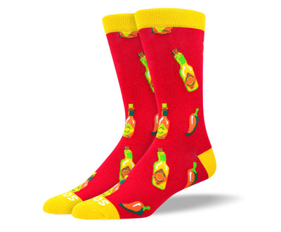 Men's Cool Red Hot Sauce Socks
