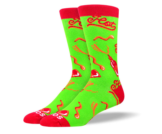 Men's Crazy Green Hot Sauce Socks