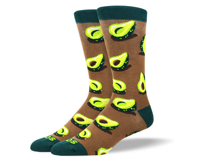 Men's Funny Brown Avocado Socks