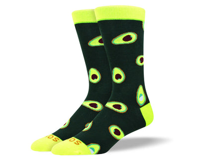 Men's Crazy Black Avocado Socks