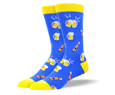 Men's Cool Blue Beer Socks
