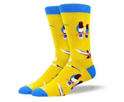Men's Funny Unique Bird Socks
