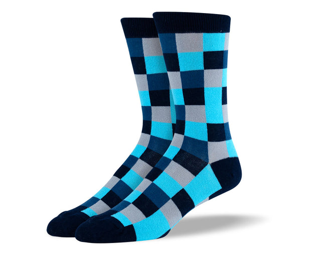 Men's Blue Square Socks