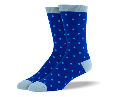Men's Blue Polka Dots Socks
