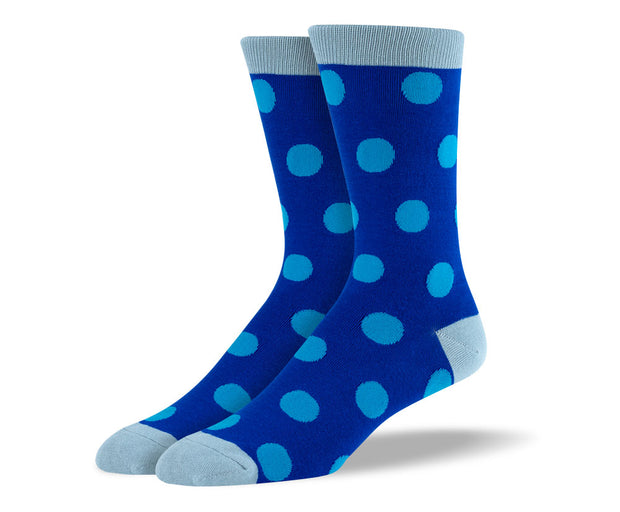 Men's Blue Dots Socks
