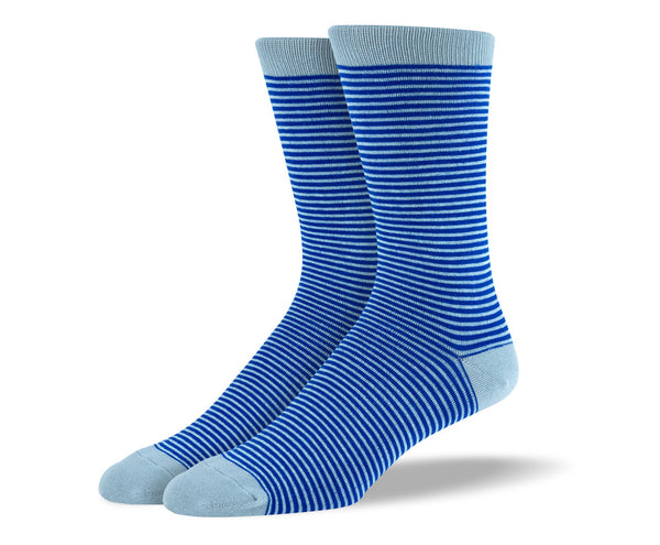 Men's Blue Thin Stripes Socks