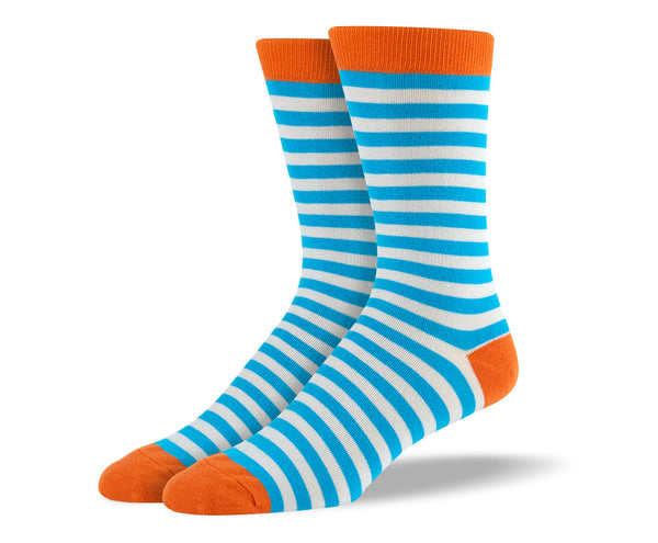 Men's Light Blue Stripes Socks
