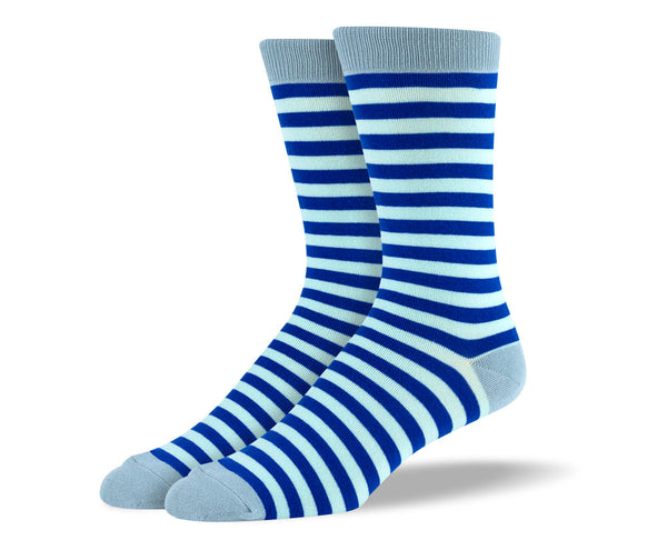 Men's Blue Stripes Socks