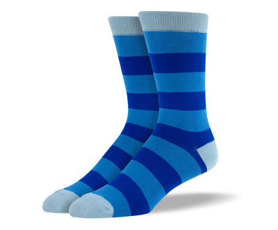 Men's Blue Big Stripes Socks