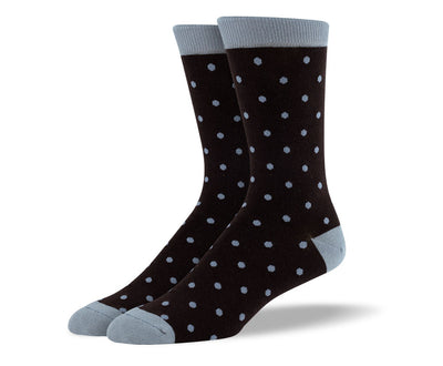 Men's Dark Brown Small Polka Dots Socks