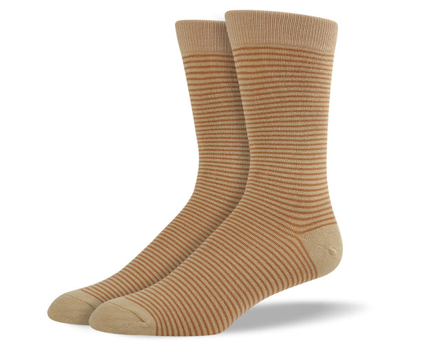 Men's Brown Thin Stripes Socks