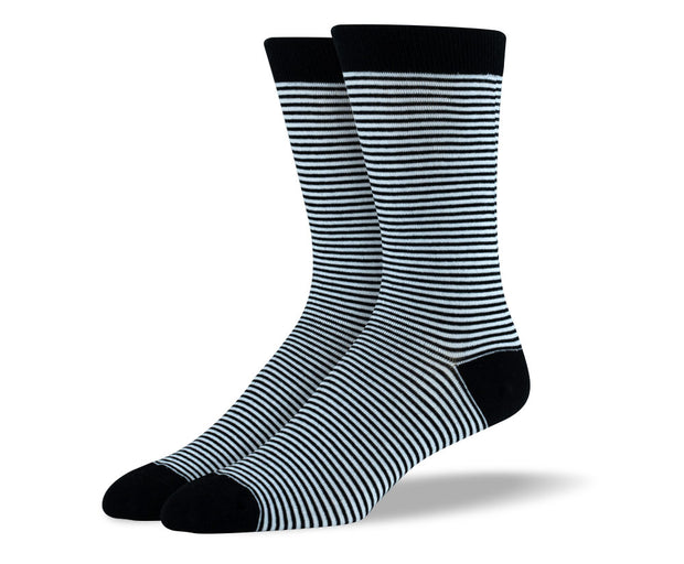 Men's Black Thin Stripes Socks