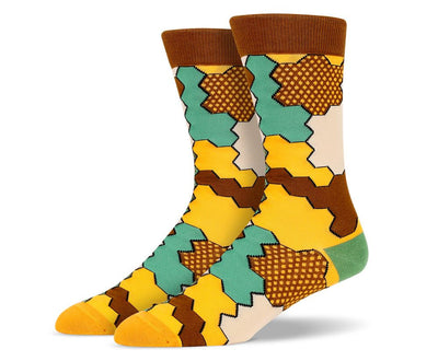 Mens Jigsaw Socks
