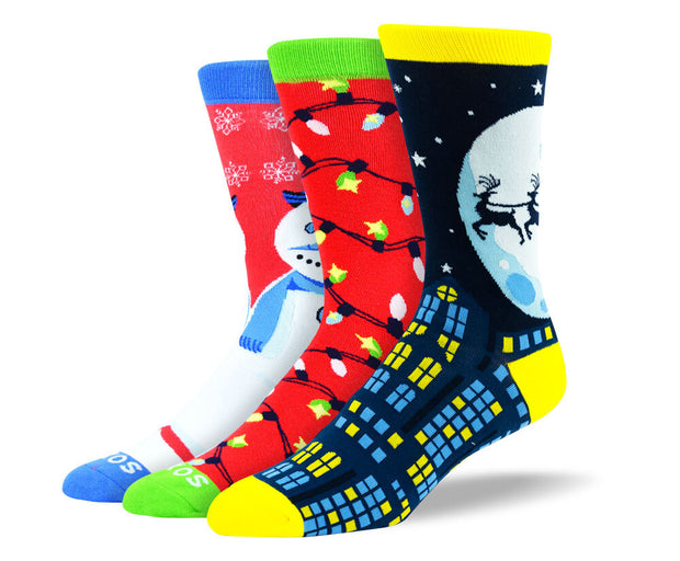 Men's Funny Christmas Sock Bundle