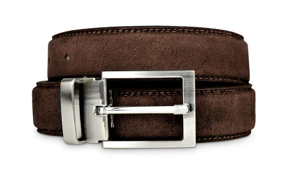 Mens Brown Suede Belt