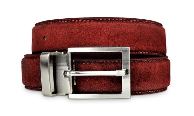 Mens Red Suede Belt