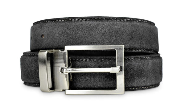 Mens Grey Suede Belt