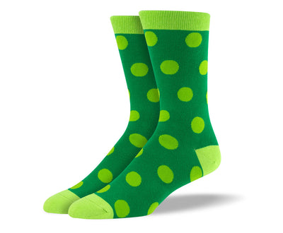 Men's Green Big Dots Socks