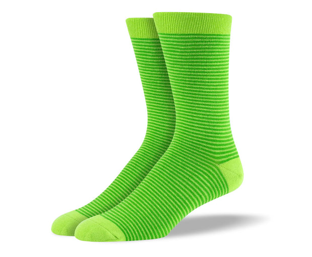 Men's Green Thin Stripes Socks
