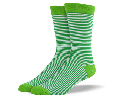 Men's Dark Green Thin Stripes Socks