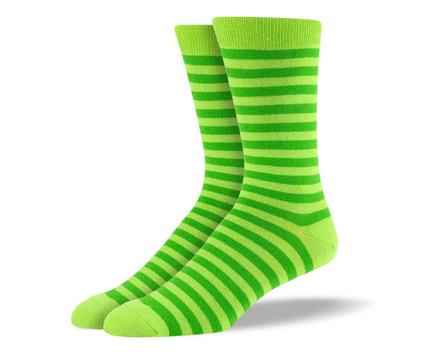 Men's Green Stripes Socks