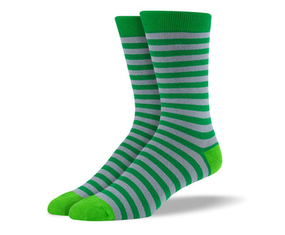 Men's Dark Green Stripes Socks