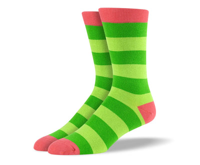 Men's Green Thick Stripes Socks