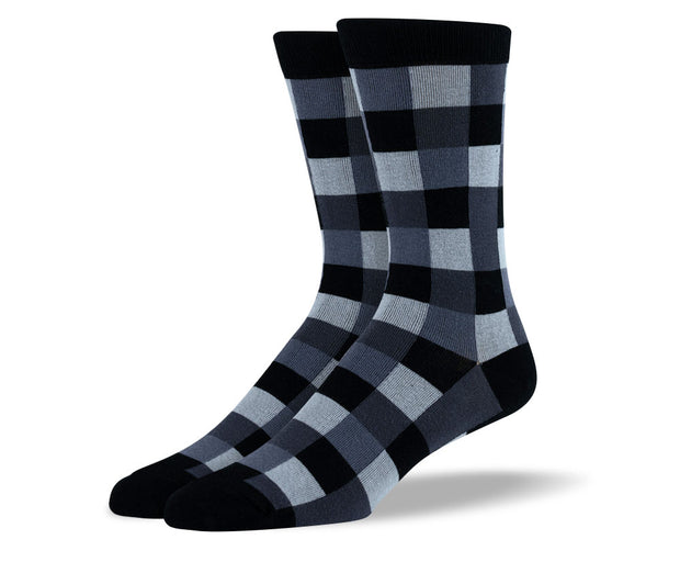 Men's Grey Square Socks