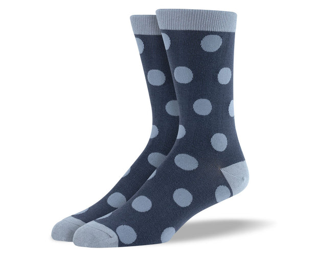 Men's Grey Big Dots Socks