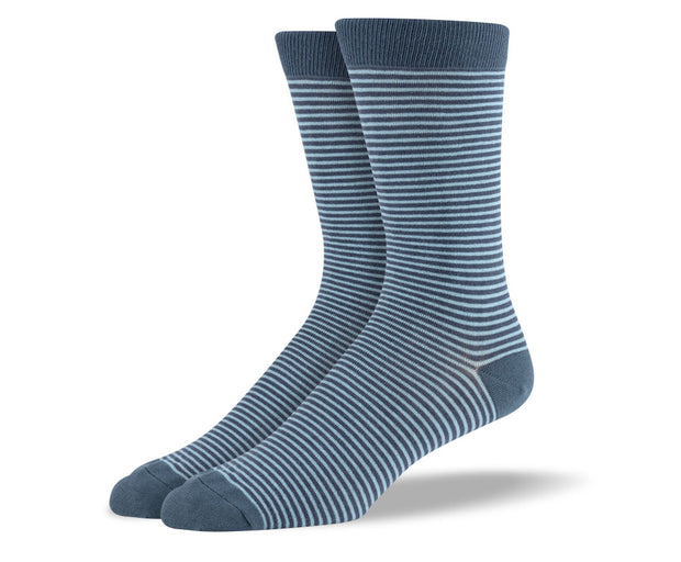Men's Grey Thin Stripes Socks