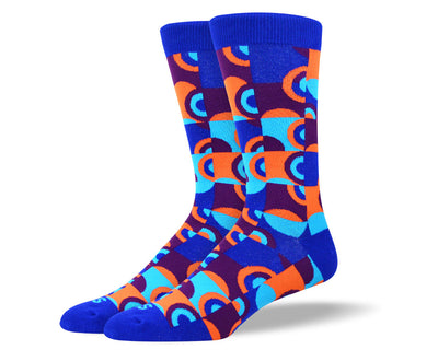 Men's Crazy Blue Fun Art Socks