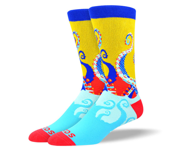 Men's Crazy Octopus Socks
