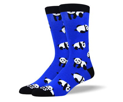 Men's Crazy Blue Panda Socks