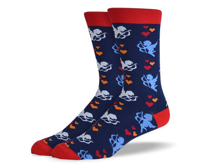 Men's Blue Valentines Day Socks