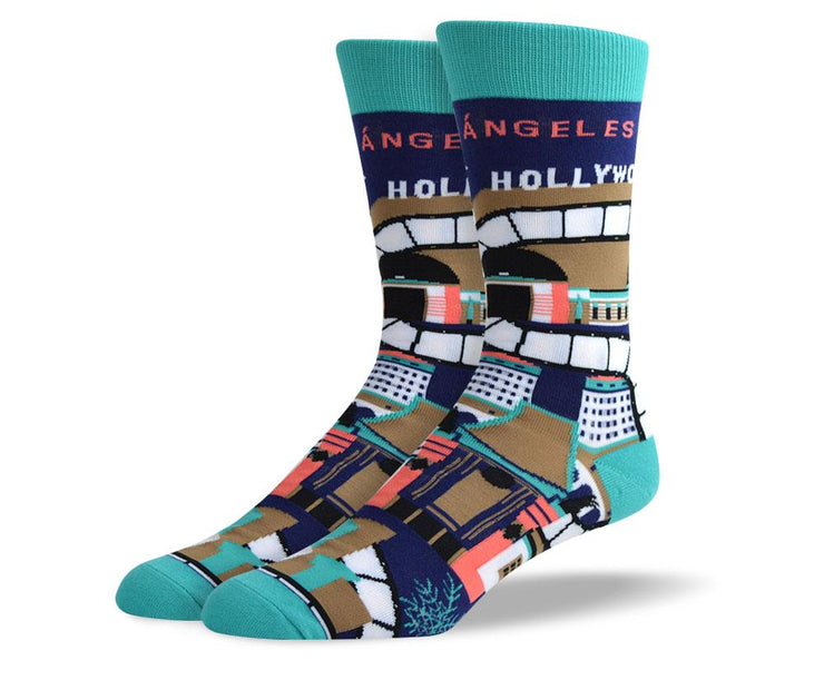 Men's Crazy Los Angeles Dress Socks