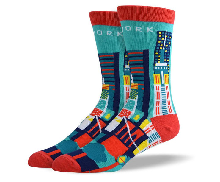 Men's Pattern New York Socks