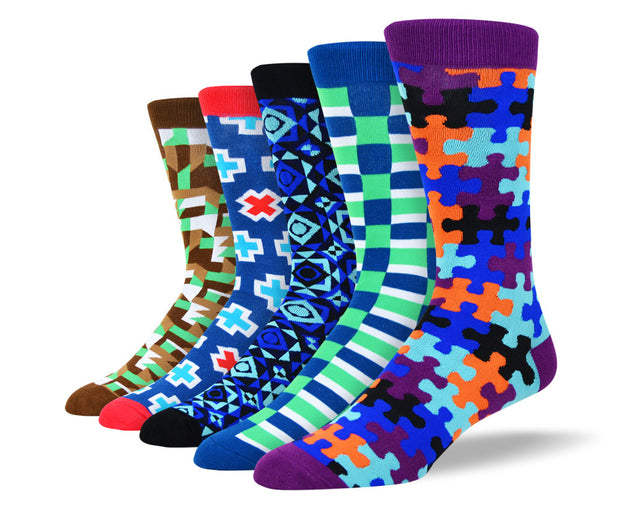 Men's Awesome Pattern Socks Bundle