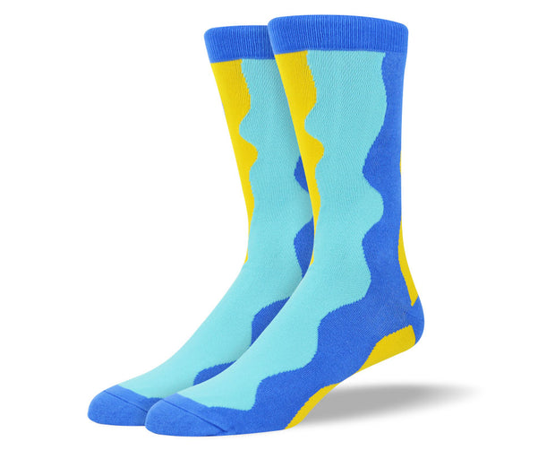 Men's Blue Colorful Socks