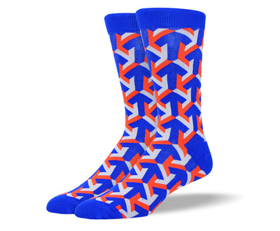 Men's Blue Crazy Arrow Socks