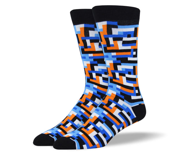 Men's Blue Wild Art Socks