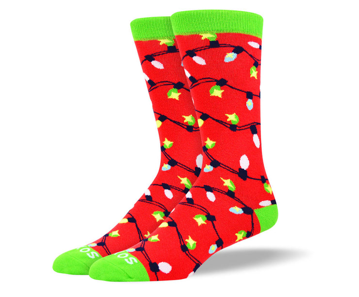 Men's Christmas Lights Sock