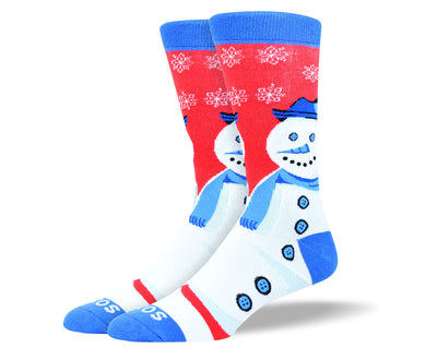 Men's Christmas Socks Snowman