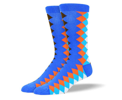 Men's Novelty Colored Diamond socks